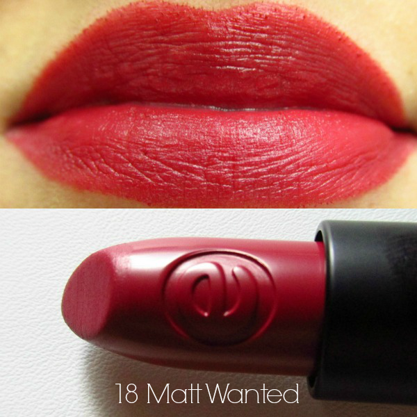 essence longlasting lipstick 18 Matt Wanted swatch