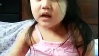 Beautiful Kid Girl reciting Holy Quran Video