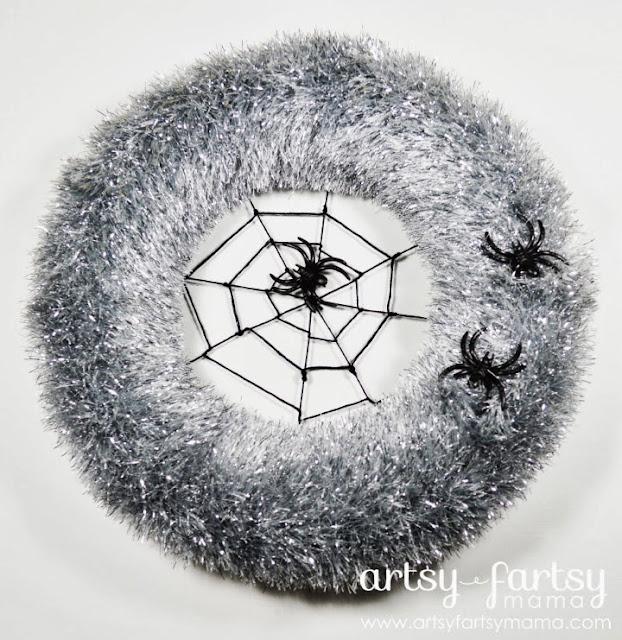 Spider Web Wreath from Artsy Fartsy Mama