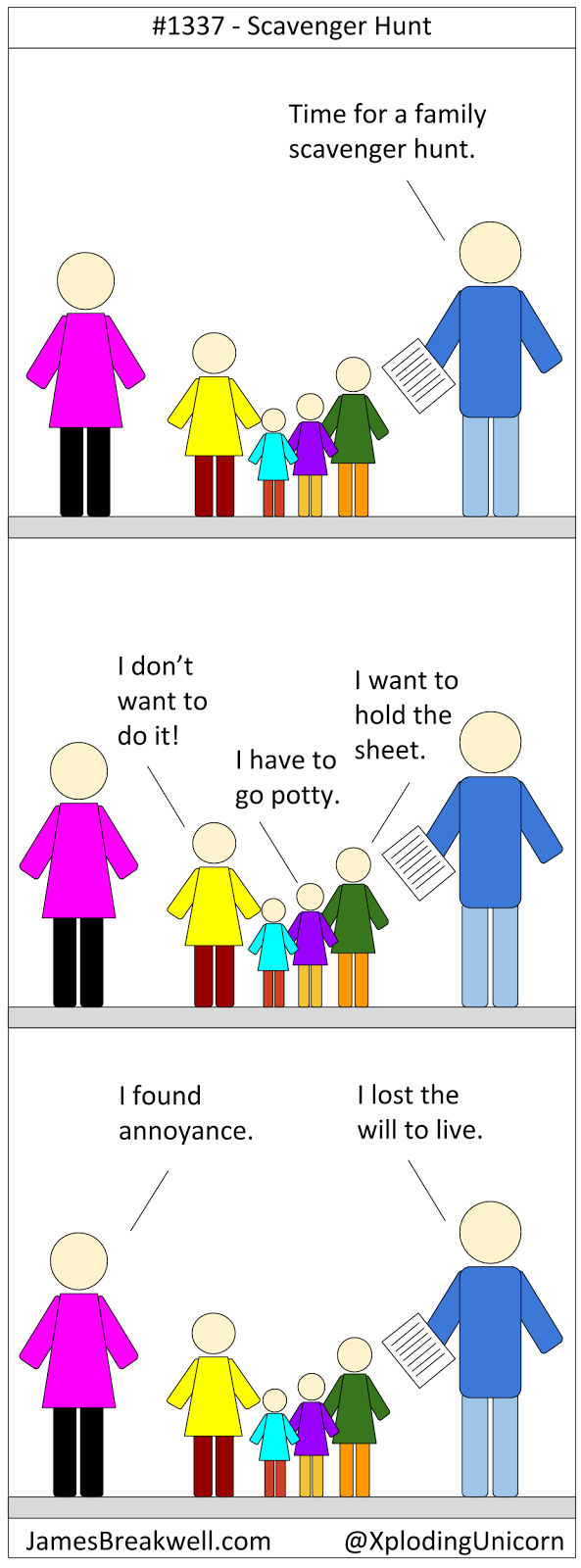 James Breakwell's Unbelievably Bad Webcomic: Scavenger Hunt