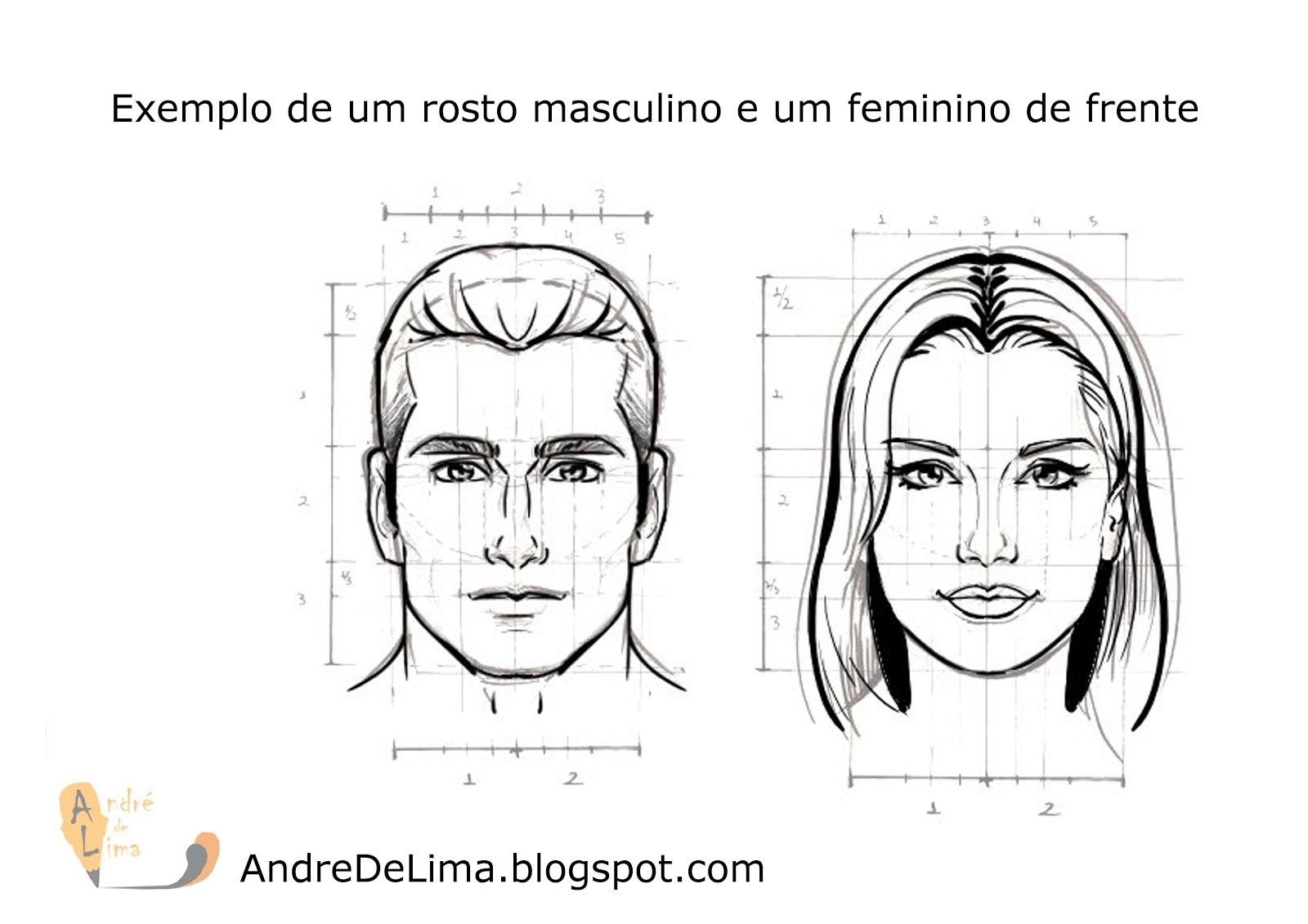 Andre De Lima Rc Alodesenhos Rosto Masculino E Feminino 1