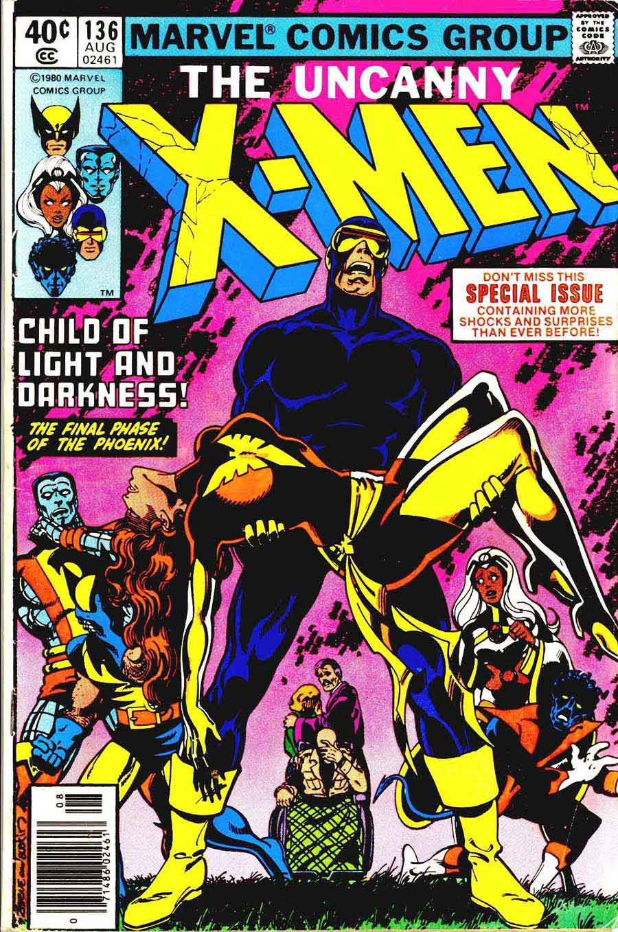 X-men v1 #136 marvel comic book cover art by John Byrne