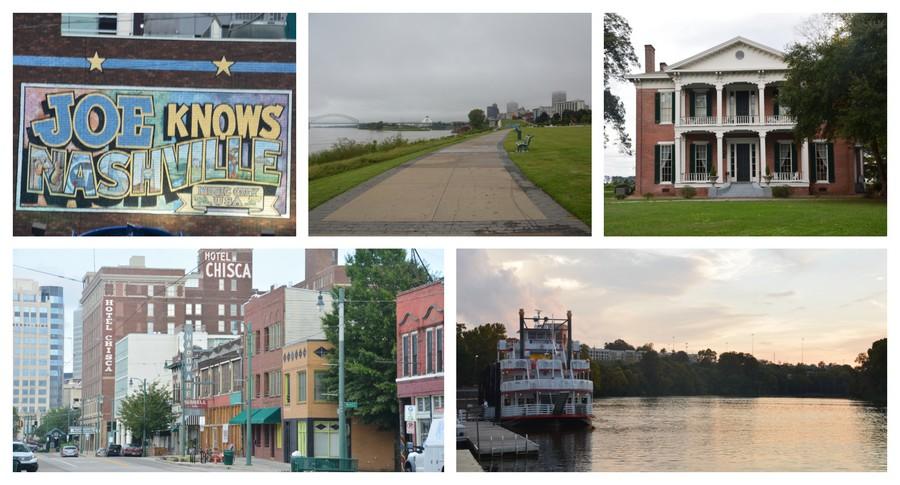 maisons antebellum et villes du sud des Etats-Unis