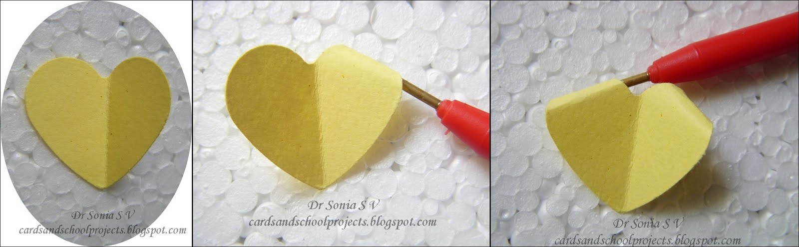 Cards Crafts Kids Projects Easy Heart Punch Rose Flower Tutorial