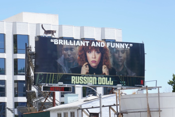 Russian Doll Emmy FYC cat extension billboard