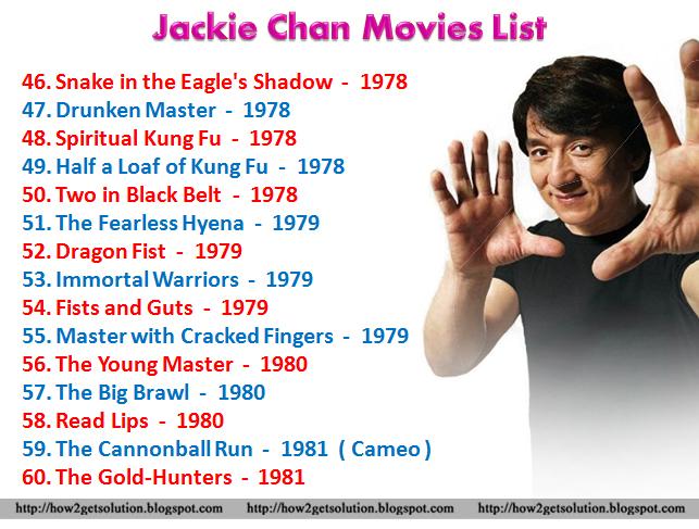 Smartpost: Jackie Chan Movies List, Martial Artist, Singer, Stuntman