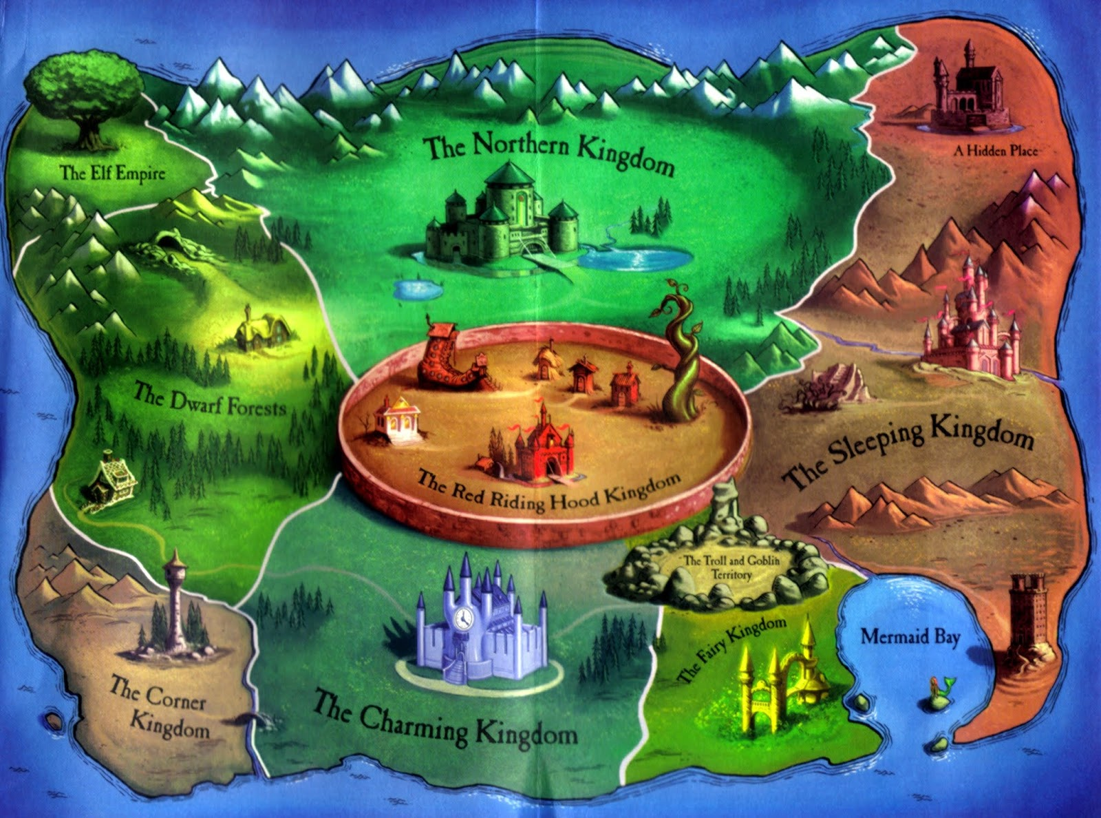 the inside cover of the book flipped out to reveal a map of the land of stories which also seemed to promise an immersive world
