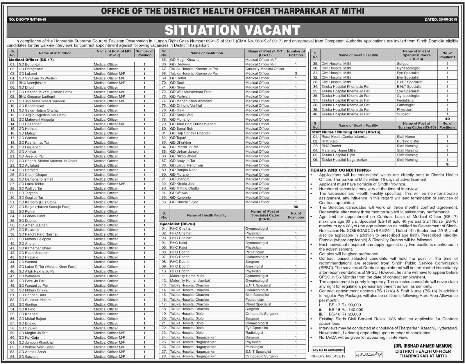 District Health Office Jobs 2019 (747 Posts),health jobs,pakistan jobs 2019,health department jobs 2019,latest govt jobs 2019,govt jobs 2019,district health officer new jobs 2019 || tahseen jobs,district health authority jobs 2019,district health officer nowshera feroz jobs 2019 latest,health officer jobs 2019,distract health officer jobs,district health authority jhang jobs 2019,govt jobs,district health authority toba tek singh jobs 2019
