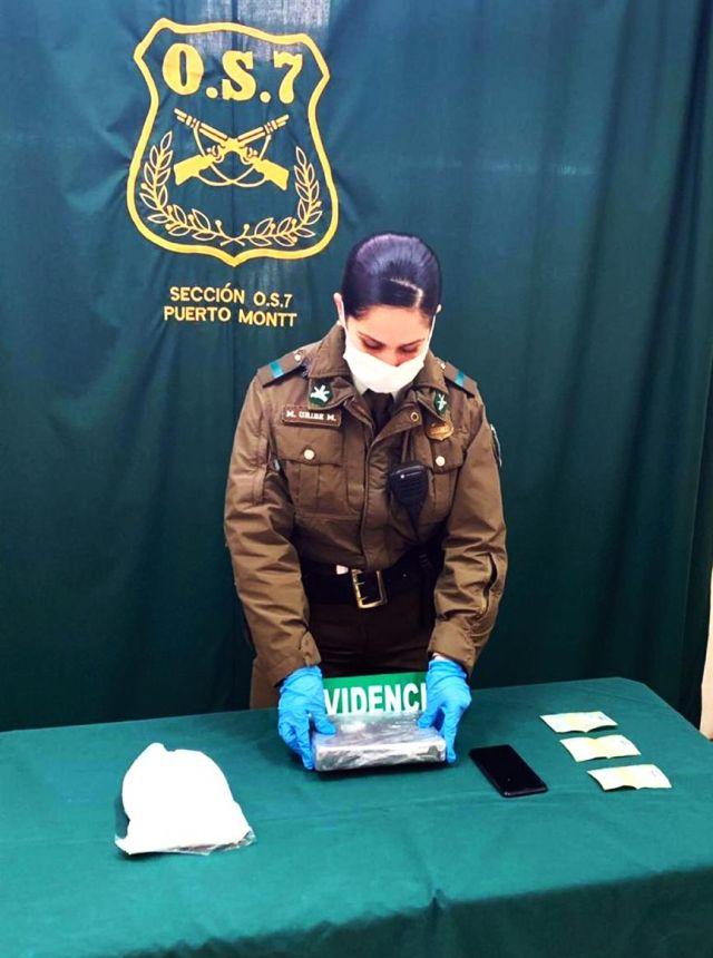 Incautan más 4.000 dosis de cocaína en terminal de Osorno