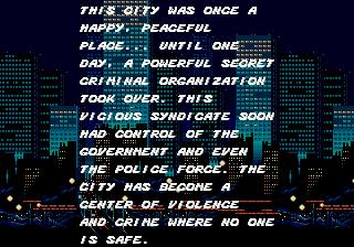 Tela de introdução do Street of Rage