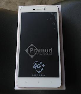 review layar, kamera depan, tombol home xiaomi redmi 4A - pramud blog
