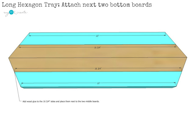 add next two pieces to tray bottom