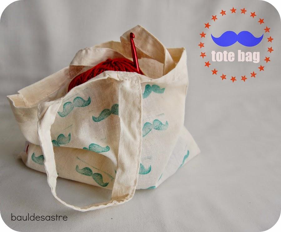 tote bag decorada con sellos