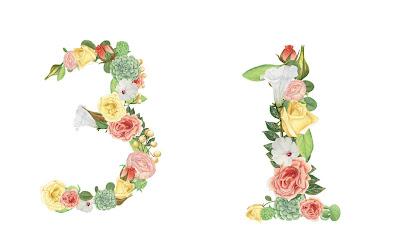 A floral number 31