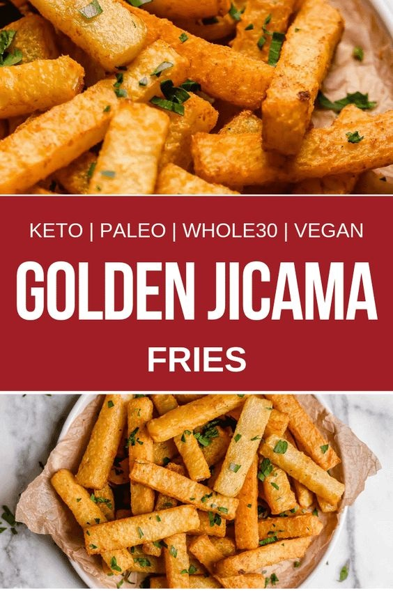 Golden Jicama Fries