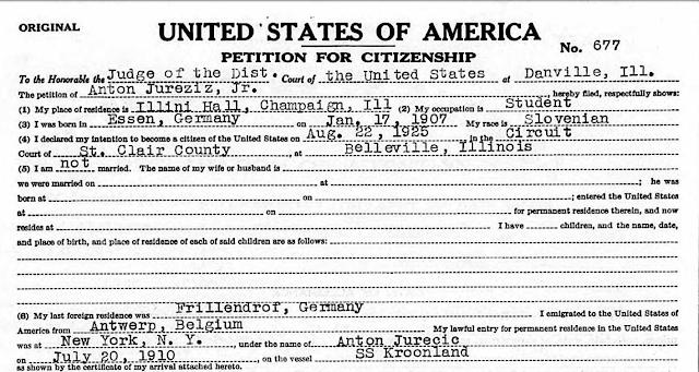 Anton Jureziz Jr petition for citizenahip papers