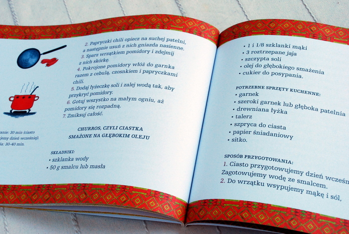 Wnętrze książki, przepisy