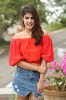 Rhea Chakraborty in Red Crop Top and Denim Shorts Spicy Pics ~  Exclusive 073.JPG