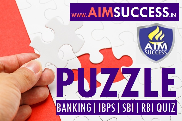 Reasoning Puzzle for SBI Clerk 2018: 9 April