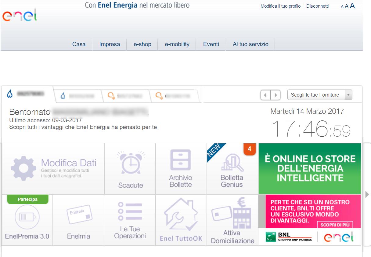 Come pagare la bolletta della luce e del gas dell 39 enel for Enel gas bolletta