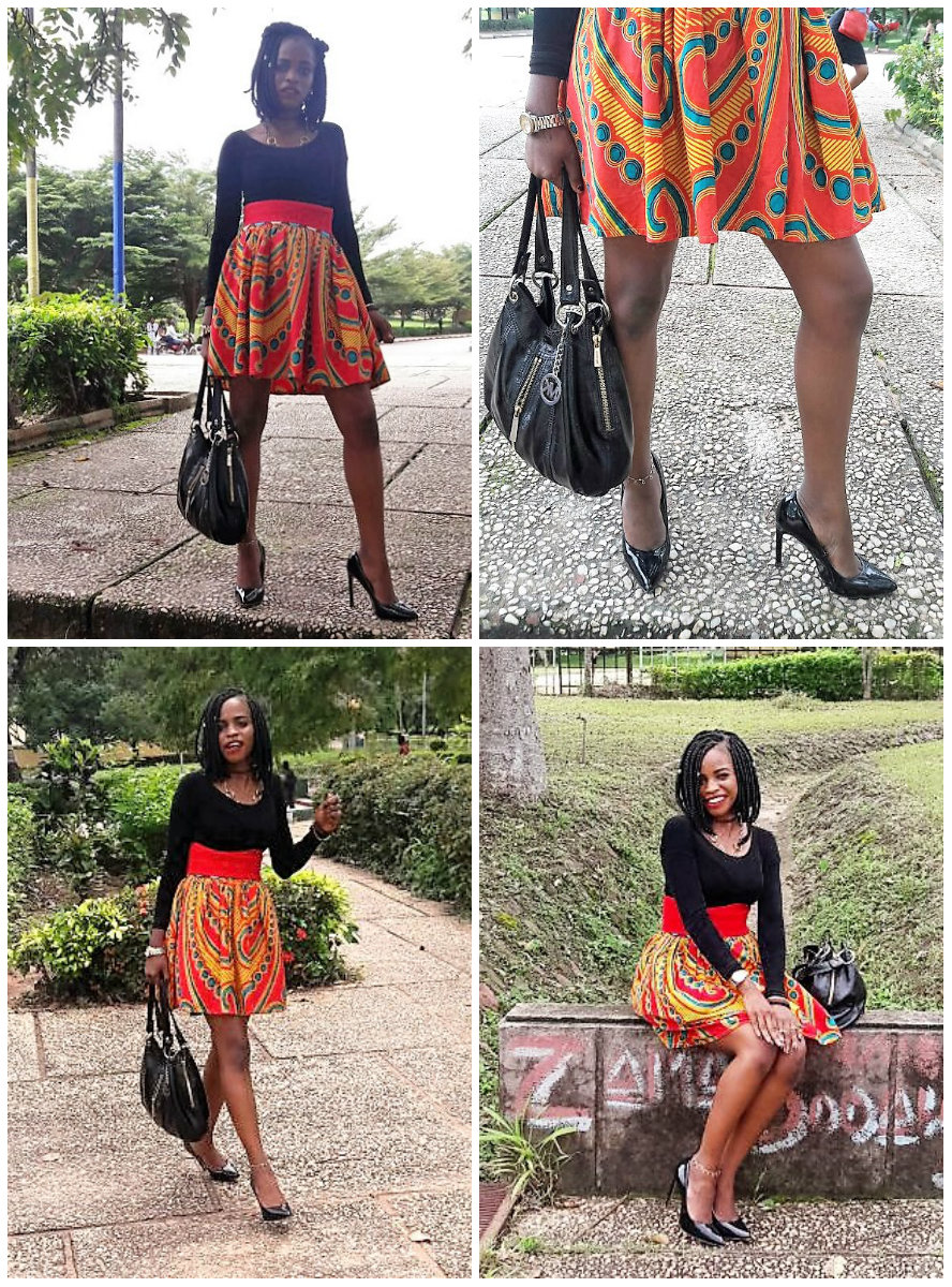 ankara printed skirt
