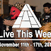 Live This Week: November 11th - 17th, 2018
