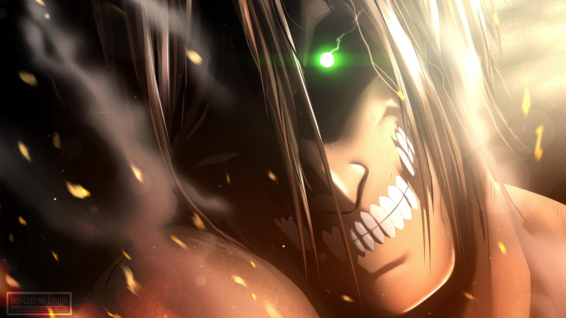 Rogue Titan Eren Yeager Wallpaper Hd