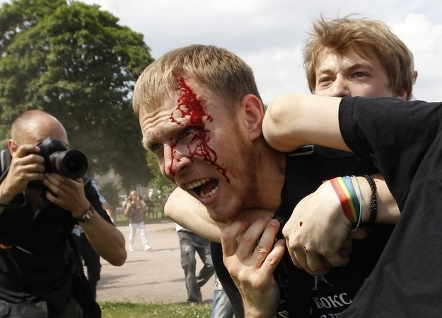 violence against gays in russia