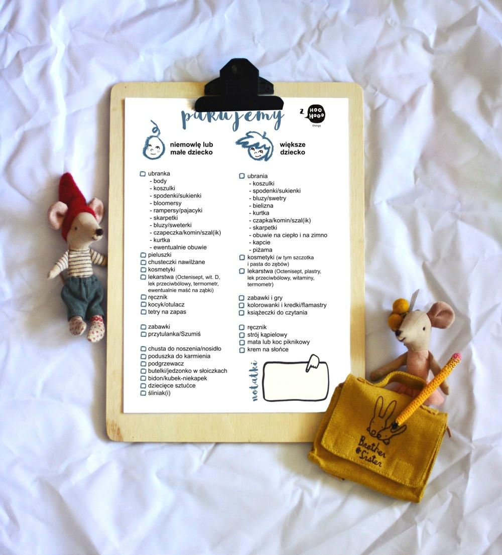 Jak zapakować się na rodzinny wyjazd? - wakacyjny planner do pobrania