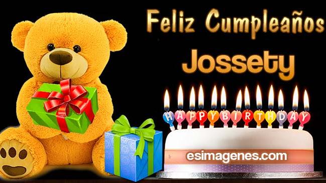 Feliz cumpleaños Jossety
