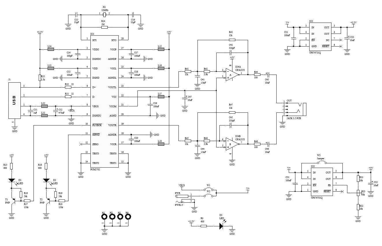 medium resolution of audio schematics usb sound card based pcm2702 audio schematics graphic equalizer based la3607