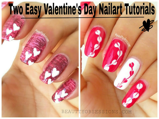 Two Easy Valentine's Day Nailarts Tutorial | #ShareYourLove