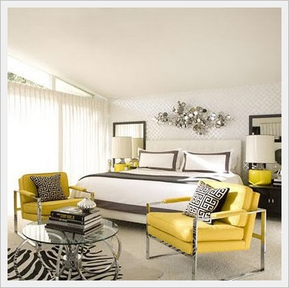 remarkable light yellow gray bedroom ideas | Decore: Combinação de cores Amarelo e cinza