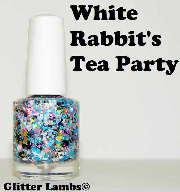 """Nails Nail art Nail Designs Glitter Lambs """"White Rabbit's Tea Party""""  Glitter Topper Nail Polish"""