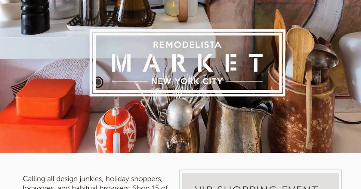 nonchalant mom mark your calenders remodelista market nyc