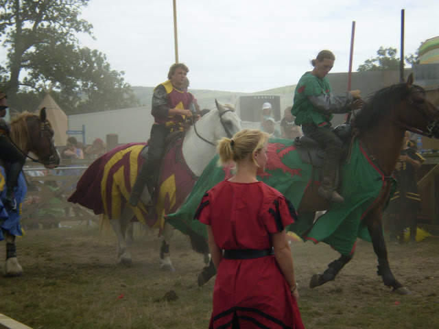 two knights at a jousting tournament