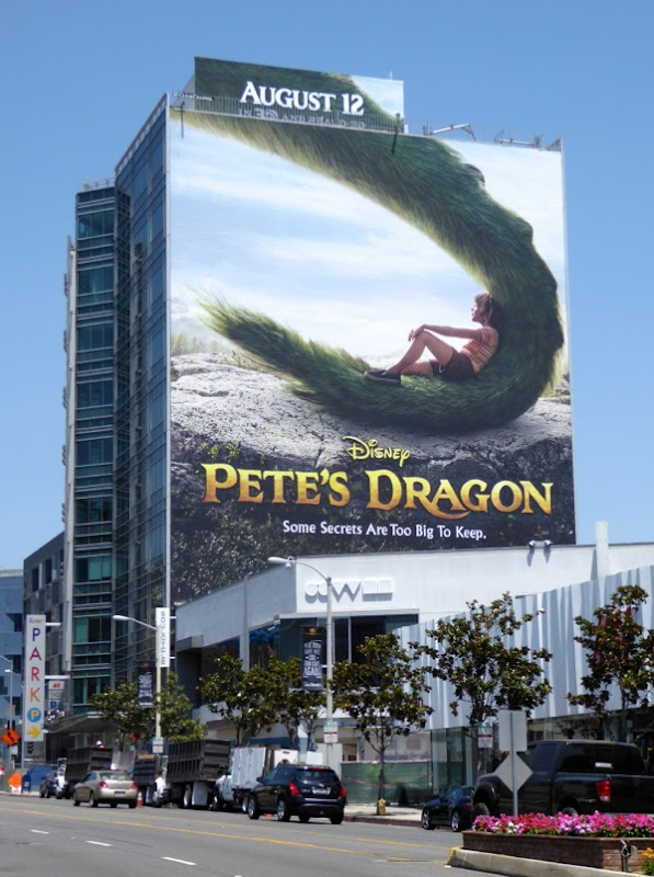 Giant Pete's Dragon movie billboard
