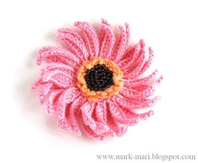 Flor Espiral de Crochet