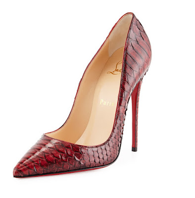 Christian Louboutin 'So Kate' red in python