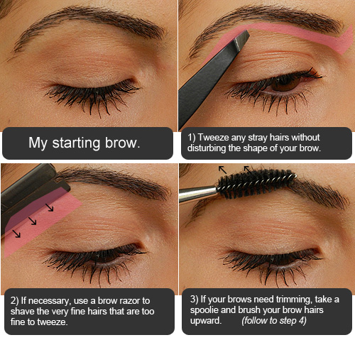 makeup tips & tricks: from shabby to chic: defined eyebrows