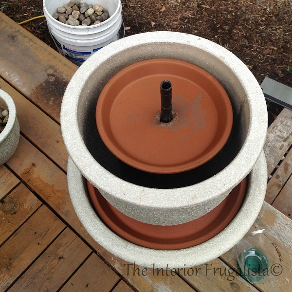Step 7 How To Turn Plant Pots Into Water Fountain