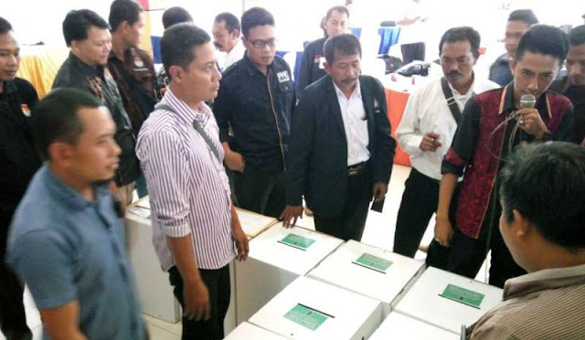 Simulasi proses rekapitulasi hasil penghitungan suara Pemilu 2019 tingkat kecamatan
