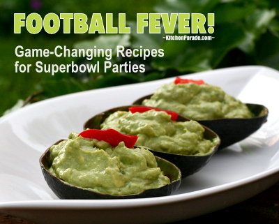Football Fever! ♥ KitchenParade.com, a fun, football-friendly collection of game-changing recipes for Superbowl parties.