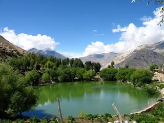 close view of nako lake himachal pradesh