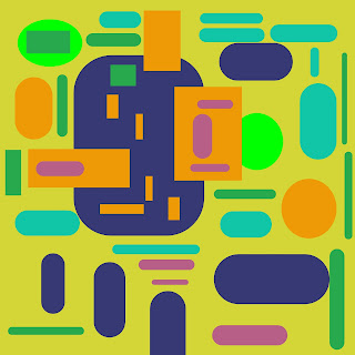 Colorful Ovals and Rectangles, Abstract Art