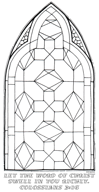 Geometric Stained Glass Coloring Pages   Color The Bible