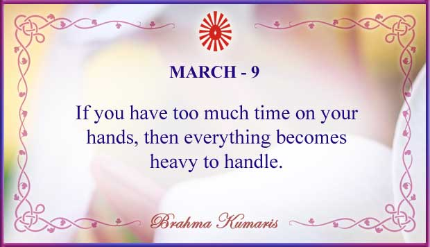 Thought For The Day March 9