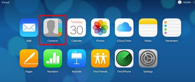 iCloud Contact