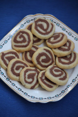 Kruche ciasteczka dwukolorowe spiralki