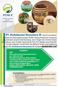 Lowongan Kerja BUMN Terbaru PT Perkebunan Nusantara IX (Persero) Tahun 2017